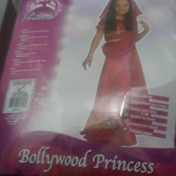 The Little Princess Costumes Indian Style Skirt With Fuschia Scarfbindi Poshmark